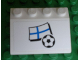 Part No: 3297pb034  Name: Slope 33 3 x 4 with Flag of Finland and Soccer Ball on White Background Pattern (Sticker) - Set 3405