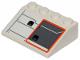 Part No: 3297pb043L  Name: Slope 33 3 x 4 with SW Snowspeeder Hull Plates with Orange Outline Pattern Model Left Side (Sticker) - Set 75259