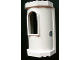 Part No: 33213pb05  Name: Belville Wall, Tower with Window with Snowflake Pattern on Outside (Sticker) - Set 7581