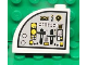 Part No: 33243pb05L  Name: Brick, Modified 1 x 3 x 2 with Curved Top with Flight Controls Pattern Model Left Side (Sticker) - Set 7723