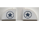 Part No: 33243pb08  Name: Brick, Modified 1 x 3 x 2 with Curved Top with Sand Blue Star in Circle on Both Sides Pattern (Stickers) - Set 76075