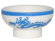 Part No: 34172pb02  Name: Minifigure, Utensil Bowl Asian with Blue Rim and Dragon Pattern