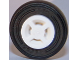 Part No: 34337c01  Name: Wheel 8mm D. x 6mm with Slot with Black Tire 14mm D. x 4mm Smooth Small Single - New Style (34337 / 59895)