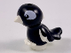 Part No: 35074pb04  Name: Bird, Friends / Elves, Feet Joined with Black Body, Black and White Eyes Pattern