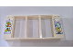 Part No: 35103pb03  Name: Door Frame 2 x 16 x 6 with 3 Openings and 2 Studs on Either Side on Front with Supermarket Offers Pattern