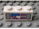 Part No: 3622pb029  Name: Brick 1 x 3 with Radio and Dual Cassette Pattern Dark Pink/Blue (Sticker) - Set 5848