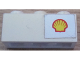 Part No: 3622pb044R  Name: Brick 1 x 3 with Shell Logo Small Pattern on Right (Sticker) - Set 6371