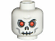 Part No: 3626bpb0269  Name: Minifigure, Head Skull Evil with Scowl, Black Print, Red Eyes Pattern (Fantasy Era) - Blocked Open Stud