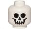 Part No: 3626cpb0001  Name: Minifigure, Head Skull Standard Pattern - Hollow Stud