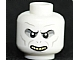 Part No: 3626cpb0486  Name: Minifigure, Head Alien with HP Voldemort with Teeth and Nostrils Pattern - Hollow Stud
