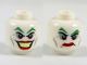 Part No: 3626cpb2057  Name: Minifig, Head Dual Sided Green Eyebrows, Red Lips, Wide Smile / Disgusted Pattern (The Joker) - Stud Recessed