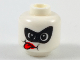 Part No: 3626cpb2093  Name: Minifig, Head Alien Female with Black Domino Mask, Red Tongue Sticking Out Pattern - Stud Recessed