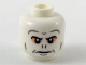 Part No: 3626cpb2184  Name: Minifigure, Head Alien Dark Bluish Gray Eyebrows and Contours, Peach Around Eyes, Nose Slits Pattern - Hollow Stud