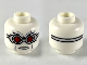 Part No: 3626cpb2420  Name: Minifigure, Head Silver Goggles with Red Lenses, Frown Pattern - Hollow Stud