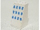 Part No: 3684apb006  Name: Slope 75 2 x 2 x 3 - Hollow Studs with 12 Blue Rectangles (Ferry Windows) Pattern (Sticker) - Set 1656-2