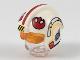 Part No: 37630c01pb01  Name: Minifigure, Headgear Helmet SW Rebel Pilot with Trans-Orange Visor and Red Stripe and Rebel Logo Pattern (Luke)