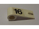 Part No: 3822pb010  Name: Door 1 x 3 x 1 Left with Number 16 Pattern (Sticker) - Set 6634