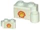 Part No: 3831pb01  Name: Hinge Brick 1 x 4 Swivel Base with Shell Logo Pattern on Both Sides (Stickers)