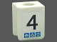 Part No: 3840pb14  Name: Minifigure, Vest with Number 4 and Gravity Games Pattern on Both Sides (Stickers) - Set 3585