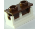Part No: 3937c12  Name: Hinge Brick 1 x 2 Complete Assembly with Reddish Brown Top Plate