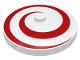 Part No: 3960p03  Name: Dish 4 x 4 Inverted (Radar) with Spiral Red Pattern