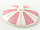 Part No: 3960pb001  Name: Dish 4 x 4 Inverted (Radar) with Solid Stud with Stripes Green and Pink Pattern