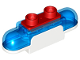 Part No: 39787c01  Name: Duplo Siren with Light and Sound, 1 x 2 Base with  Trans-Dark Blue Lights, Curved Edges and Red 2 Stud Button on Top