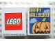 Part No: 4066pb075  Name: Duplo, Brick 1 x 2 x 2 with Halloween 2004 Happy Halloween and Pumpkin Pattern