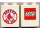 Part No: 4066pb142  Name: Duplo, Brick 1 x 2 x 2 with Boston Red Sox Logo with LEGO Logo on Back Pattern