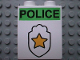 Part No: 4066pb156  Name: Duplo, Brick 1 x 2 x 2 with Star Badge and 'POLICE' on Top Pattern