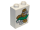 Part No: 4066pb192  Name: Duplo, Brick 1 x 2 x 2 with Bills and Coins Money Pattern
