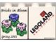 Part No: 4066pb204  Name: Duplo, Brick 1 x 2 x 2 with Bricks In Bloom Three Flowers Pattern