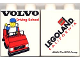 Part No: 4066pb237  Name: Duplo, Brick 1 x 2 x 2 with Volvo Driving School Pattern
