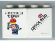 Part No: 4066pb273  Name: Duplo, Brick 1 x 2 x 2 with Factory Tour with Train Minifigure Holding Wrench and Shovel Pattern (Stickered)