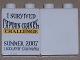 Part No: 4066pb298  Name: Duplo, Brick 1 x 2 x 2 with I Survived Captain Cranky's Challenge (Legoland California) Pattern