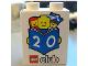 Part No: 4066pb302  Name: Duplo, Brick 1 x 2 x 2 with Lego Club 20th Birthday Pattern