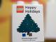 Part No: 4066pb355  Name: Duplo, Brick 1 x 2 x 2 with Happy Holidays Christmas Tree stores.lego.com 2009 Pattern