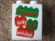 Part No: 4066pb357  Name: Duplo, Brick 1 x 2 x 2 with LEGOLAND holly jolly holidays Pattern