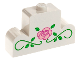 Part No: 4088px2  Name: Brick, Modified 1 x 4 x 2 Center Stud Top with Rose and Vines Pattern