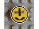 Part No: 4150pb012  Name: Tile, Round 2 x 2 with Satellite and Two Arrows Pattern (Sticker) - Set 8480