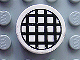 Part No: 4150pb026  Name: Tile, Round 2 x 2 with Black Grid Small Pattern