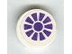 Part No: 4150pb079  Name: Tile, Round 2 x 2 with Purple Fan Pattern (Sticker) - Set 7706