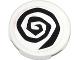 Part No: 4150pb151  Name: Tile, Round 2 x 2 with Black Spiral Pattern (Sticker) - Set 79104