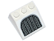 Part No: 4161pb02  Name: Slope 33 3 x 3 with Silver Grille Pattern (Sticker) - Set 75094