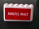Part No: 4176pb31  Name: Windscreen 2 x 6 x 2 with 'AMSTEL MALT' on Red Background Pattern (Sticker) - Set 880002-2 (in Combination with Sets 3308 / 3309)