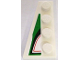 Part No: 41770pb04  Name: Wedge, Plate 4 x 2 Left with Angled Red, Black and Green Pattern (Sticker) - Set 8898