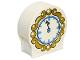 Part No: 41970pb12  Name: Duplo, Brick 1 x 3 x 2 Round Top with Clock Pattern