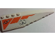 Part No: 42060pb35  Name: Wedge 12 x 3 Right with Modified Classic Space Logo, Orange Lines and Hatch Pattern (Sticker) - Set 7690