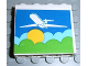 Part No: 4215apb08  Name: Panel 1 x 4 x 3 - Solid Studs with Airplane above Sun & Clouds Pattern (Sticker) - Set 1772