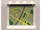 Part No: 4215apb09  Name: Panel 1 x 4 x 3 - Solid Studs with Map Street Pattern 3 on Inside (Sticker) - Set 6676